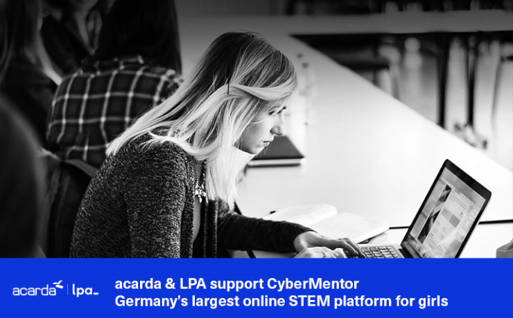 acarda & LPA support CyberMentor – Germany's largest online STEM platform for girls