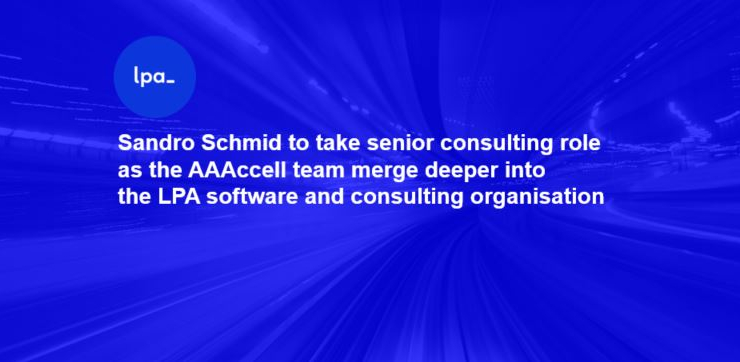 Sandro Schmid to take senior consulting role as LPA integrates it's AAAccell AI team deeper into the organisation