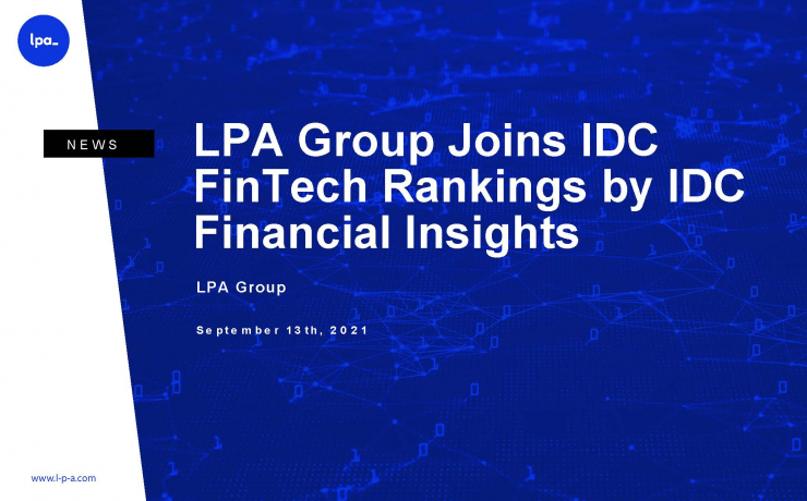 LPA Group Joins IDC FinTech Rankings by IDC Financial Insights